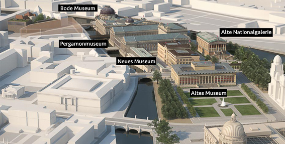 Mapa Isla de los museos Berlin