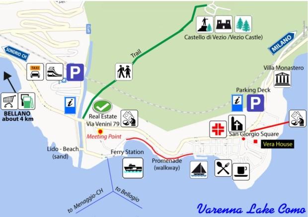 Vera-House-Varenna-Map